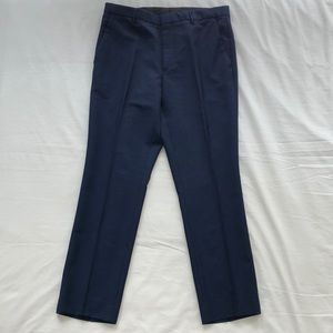 Burberry Modern Fit Wool Trousers in Royal Navy